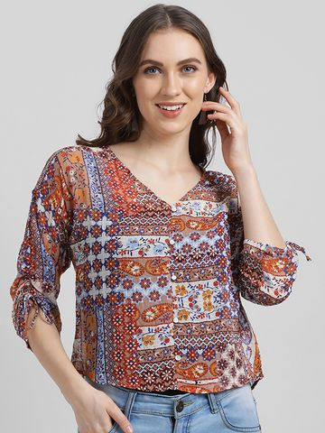 Zink London | Zink London Women's Multi Shirt Style Top