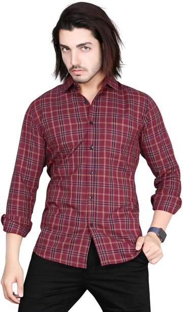 5th Anfold | Fifth Anfold Multicolor Checkered Full Sleev Spread Collar Casual Pure Cotton Shirt
