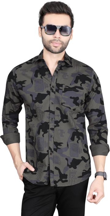 5th Anfold | Camofleg Printed Cotton Shirt by Fifth Anfold