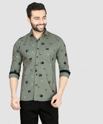 5th Anfold | Printed Casual Pure Cotton Full Sleev Shirt By 5th Anfold