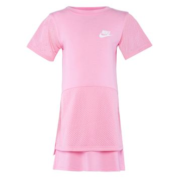 Nike | PinkNike Mesh-Layered Dress