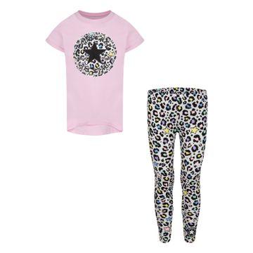 CONVERSE | Converse Leopard Print T-Shirt and Leggings 2-Piece Set