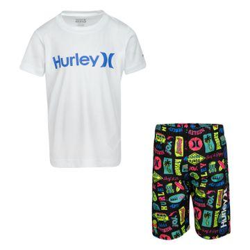 Hurley | Hurley UPF 50+ T-Shirt and Swim Trunks 2-Piece Set
