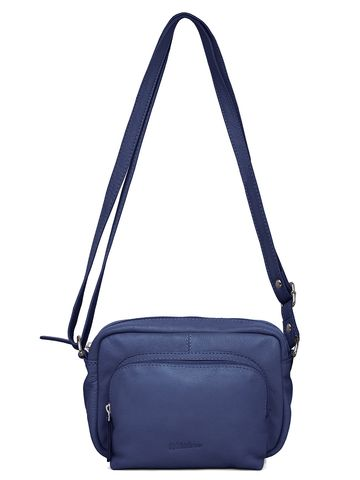 WildHorn   WildHorn Upper Grain Genuine Leather Ladies Sling, Crossbody, Shoulder Bag with Adjustable Strap - Blue