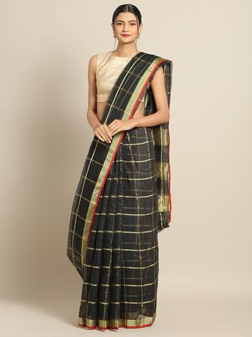 SATIMA | Satima BlackCotton SilkWeaving Saree