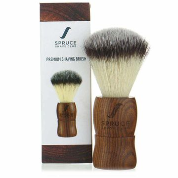 Spruce Shave Club | Spruce Shave Club Shaving Brush | Genuine Wood | Imitation Badger Hair