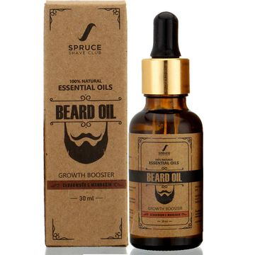 Spruce Shave Club | Spruce Shave Club Beard Growth Oil For Men| 100% Natural | Cedarwood & Mandarin