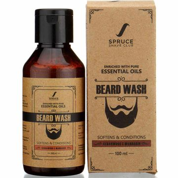 Spruce Shave Club | Spruce Shave Club Natural Beard Wash |Sulfate & Paraben Free | Cedarwood & Mandarin