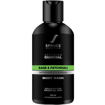 Spruce Shave Club | Spruce Shave Club Charcoal Natural Body Wash For Men | With Essential Oils | Sulfate & Paraben Free