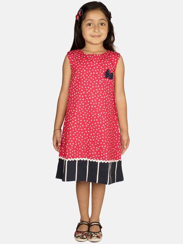 Ribbon Candy | RIBBON CANDY Girl's Red Velvet Sleeveless Shift Dress