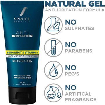 Spruce Shave Club | Spruce Shave Club Anti Irritation Shaving Gel | Bergamot & Vitamin E | Sulfate & Paraben Free