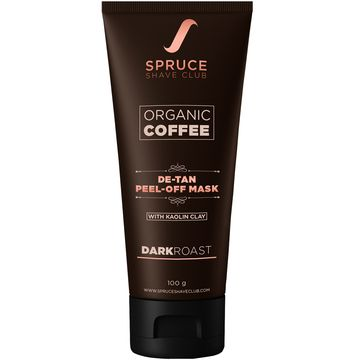 Spruce Shave Club | Spruce Shave Club Organic Coffee De Tan Peel Off Mask With Kaolin Clay | No Parabens or Silicones