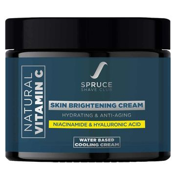 Spruce Shave Club | Spruce Shave Club Vitamin C Face Cream with 1% Hyaluronic Acid & Niacinamide for Brighter Skin | Lightweight, Non Greasy & Non Oily