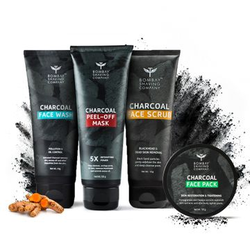 Bombay Shaving Company |  Charcoal Facial Starter Kit, Black, 200 g