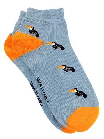 Mint & Oak | Mint & Oak Birds Of A Feather Blue Ankle Length Socks for Men
