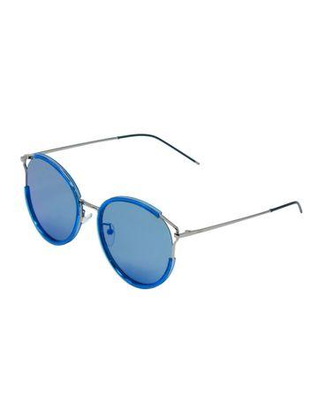 ENRICO | ENRICO Fluttersky UV Protected & Polarized Round Sunglasses for Women ( Lens - Blue | Frame - Blue)