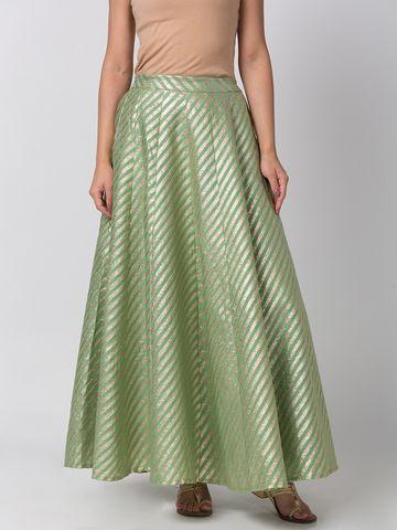 Ethnicity | Ethnicity Sap Green Chanderi Jacquard Women Skirt