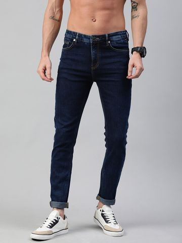 The Bear House | THE BEAR HOUSE BLUE RYAN 3D TAPERED SLIM FIT JEANS