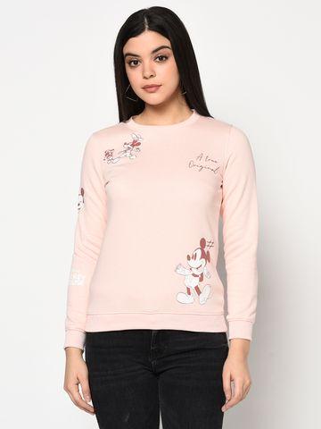METTLE   Women DUSTY PINK Sweatshirts