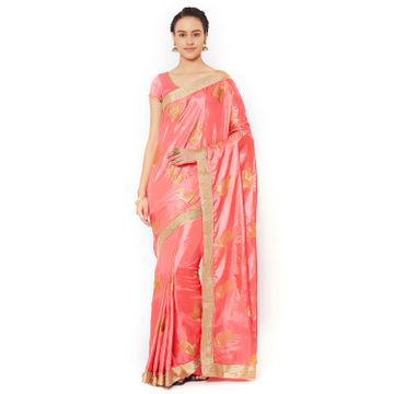 SATIMA | Satima PinkSilk BlendZari Work Saree