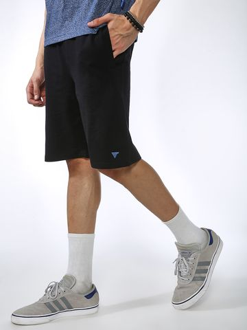 Blue Saint | Blue Saint Men's Black Regular Fit Shorts