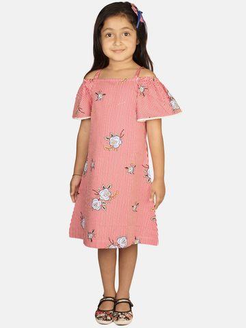 Ribbon Candy | RIBBON CANDY Girl's Rosario Off Shoulder Shift dress