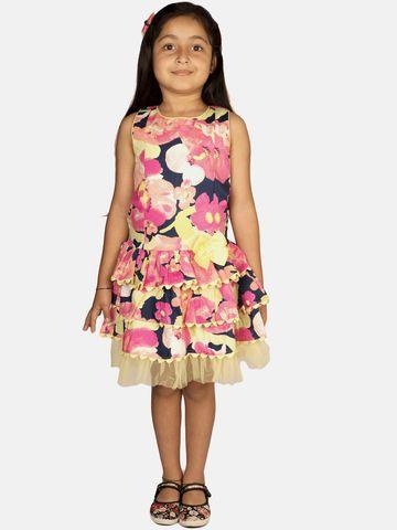 Ribbon Candy | RIBBON CANDY Girl's Floral Frills Sleeveless Three Tier Dress