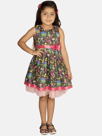 Ribbon Candy | RIBBON CANDY Girl's Midnight Fleur Sleeveless Fit and Flare Dress