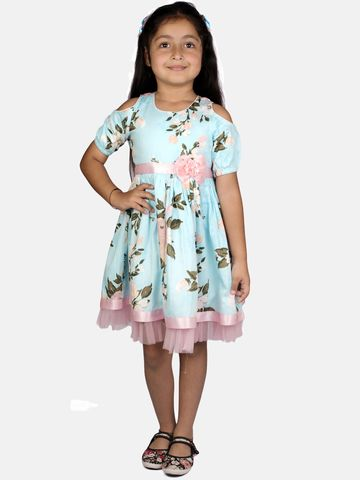 Ribbon Candy | RIBBON CANDY Girl's Lily of The Valley Cold shoulder Fit and Flare Dress