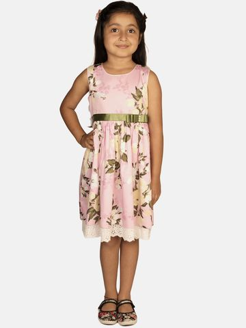 Ribbon Candy | RIBBON CANDY Girl's Rose Bloom- Sleeveless Fit and Flare Dress