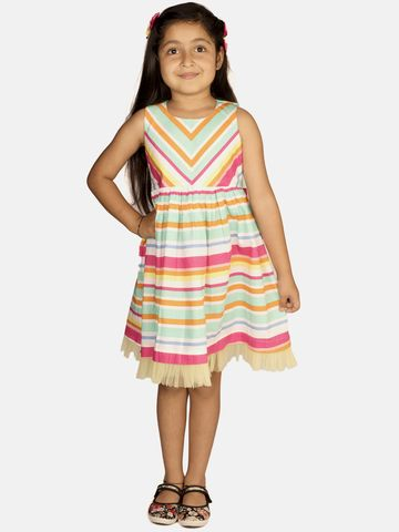 Ribbon Candy | RIBBON CANDY Girl's Colours of  The Valley- Sleeveless Fit and Flare Dress