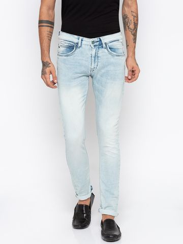spykar | Spykar Light Blue Solid Skinny Fit Jeans
