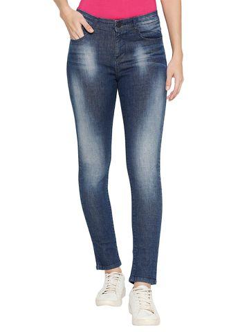 spykar | Spykar Cotton Mid Rise Skinny Ankle Length Fit Jeans (Adora)
