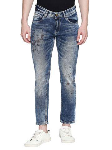 spykar   Spykar Blue Cotton Skinny Fit Jeans (Skinny)