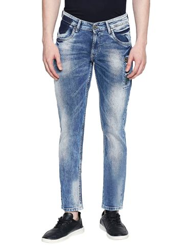 spykar | Spykar Blue Cotton Skinny Fit Jeans (Skinny)