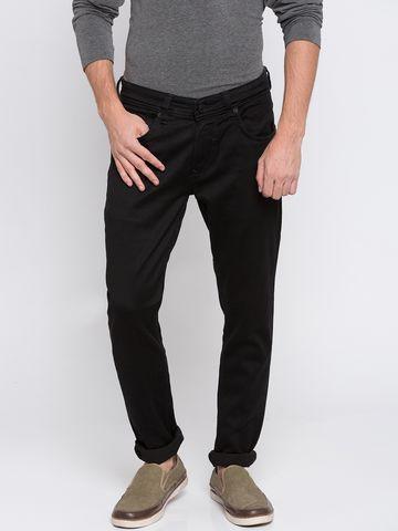 spykar | Spykar Black Solid Super Skinny Fit Jeans