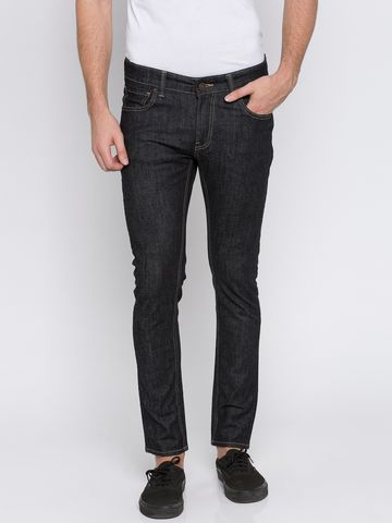 spykar | Spykar Black Solid Super Skinny Fit Jeans