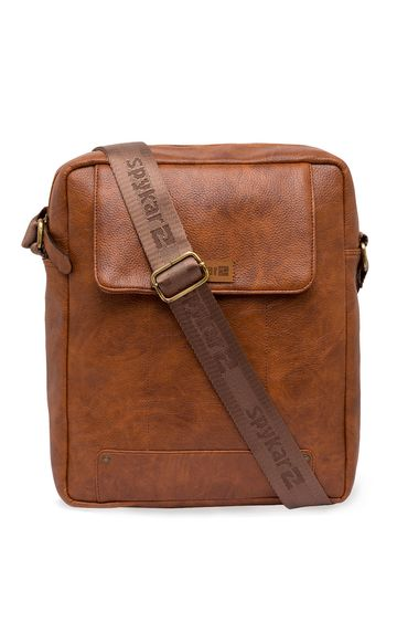 Spykar | Spykar Tan Geniune Leather Messenger Bag