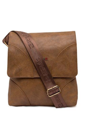 Spykar   Spykar Light Brown Geniune Leather Messenger Bag