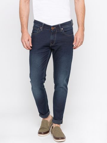 spykar | Spykar Dark Blue Solid Super Skinny Fit Jeans