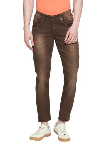 spykar | Spykar Cotton Brown Jeans