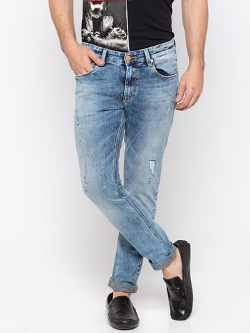 spykar | Spykar Blue Solid Super Skinny Fit Jeans