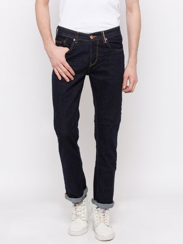 spykar | Spykar Blue Solid Regular Fit Jeans