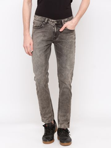 spykar   Spykar Grey Solid Skinny Fit Jeans