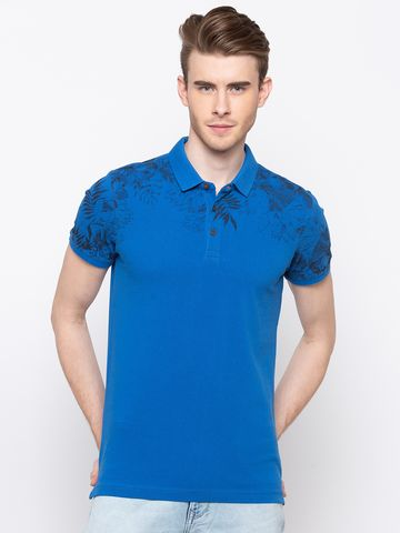 spykar | spykar Blue Cotton T-Shirts