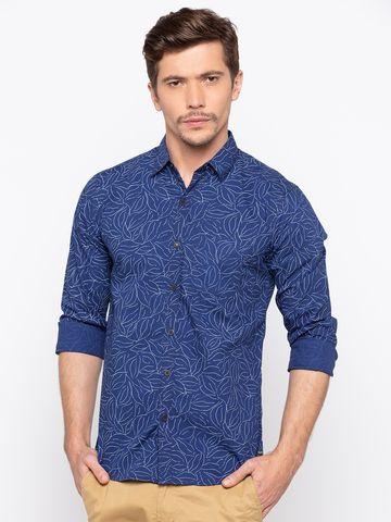 Spykar | spykar Blue Cotton Casual Shirt