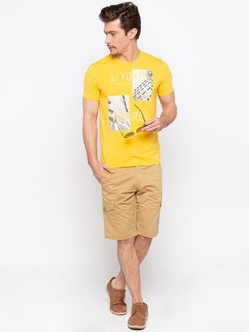 spykar | Spykar Khaki Solid Slim Fit Shorts