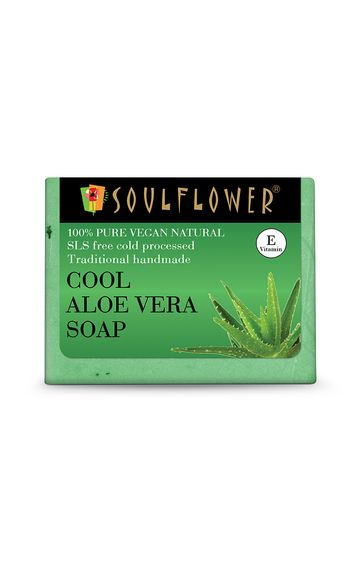 Soulflower   Cool Aloe Vera Soap - 150gm