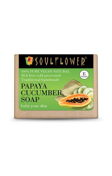Soulflower | Papaya Cucumber Soap - 150gm