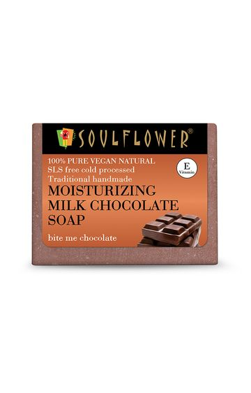 Soulflower   Moisturizing Milk Chocolate Soap - 150gm